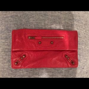 Balenciaga Bags - balenciaga red clutch envelope